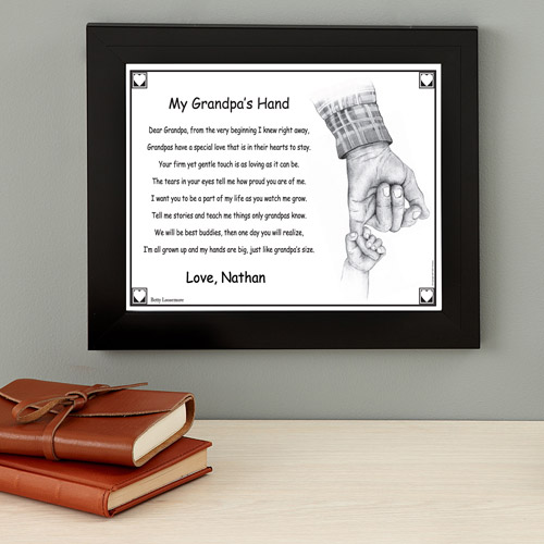 Personalized Grandpa's Hand Keepsake Print