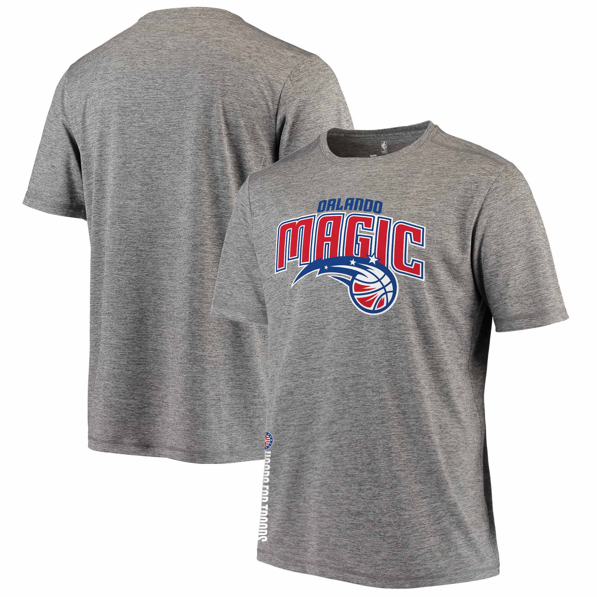 Orlando Magic Fanatics Branded Hoops For Troops T-Shirt - Heathered Gray