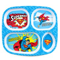 Bumkins Superman Kids Divided Tray Plate