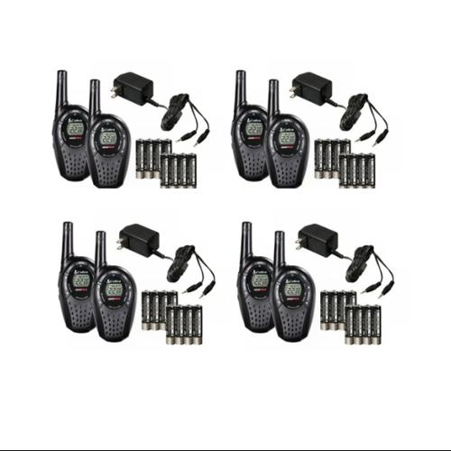 8 COBRA CXT235 MicroTalk 20 Mile FRS/GMRS 22 Channel Walkie Talkie 2-Way Radios