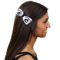 Vancouver Canucks Bow Pair - Navy Blue/White - No Size