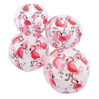 Flamingo Print Beach Balls - Party Favors - 12 Pieces