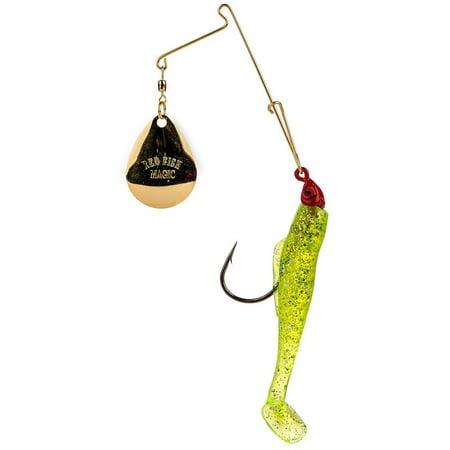 Strike King Redfish Spinnerbait, 1/8 Oz, Chartreuse Red Head - RMG18-841