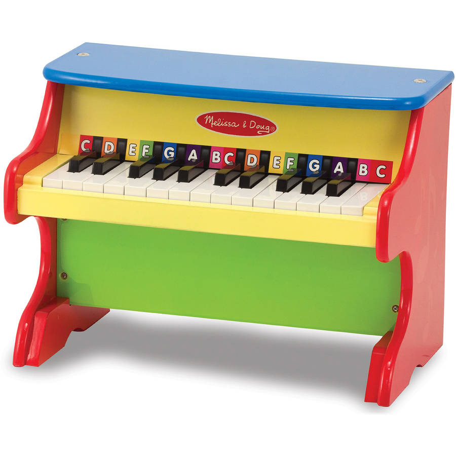 Melissa & Doug Learn-to-Play Piano with 25 Keys and Color-Coded Songbook of 9 Songs