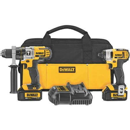 DEWALT DCK290L2 20-Volt MAX Li-Ion 3.0 Ah Hammer Drill and Impact Driver Combo Kit ()
