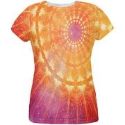 Celestial Cathedral Fractal Mandala All Over Womens T Shirt Multi LG