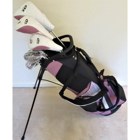 Tall Ladies Complete Taylor Fit Golf Set Made for Women 5ft-7in to 6ft-1in Tall Driver, Fairway Wood, Hybrid, Irons, Putter Cotton Candy Color