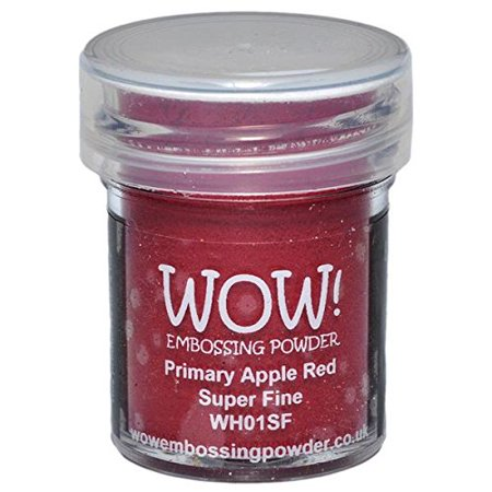 WOW! Super Fine Embossing Powder, 15ml, Primary Apple Red, WOW EMBOSSING POWDER: WOW! Clear Embossing Powder By Wow Embossing Powder Super Fine Detail Embossing Powder