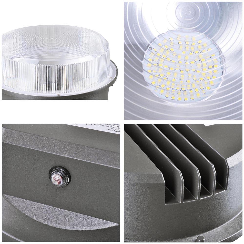 50W LED Barn Light w// Photocell 6250lm IP65 ETL Dusk to Dawn Outdoor Security