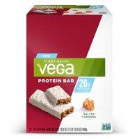 Vega Plant Protein Bar, Salted Caramel, 20g Protein, 12 Ct