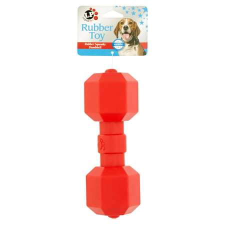 Fleece Squeaky Toy - Logical Pet Rubber Squeaky Dumbbell Dog Toy