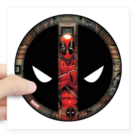 CafePress - Deadpool Logo Square Sticker 3 X 3 - Square Sticker 3
