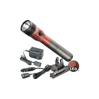 Streamlight 75612 Stinger LED Rechargeable Flashlight with PiggyBack Charger (Red)
