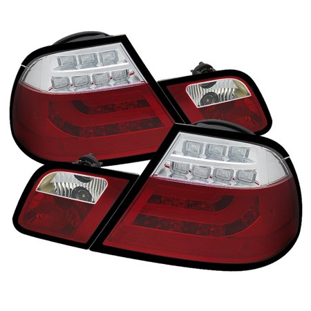 - Spyder BMW E46 00-03 2Dr Coupe ( Will Not Fit Convertible ) Light Bar LED Tail Lights - Red Clear