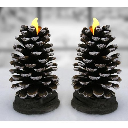 Imperial Pinecone - Pine Cone Candle - Set of 2 Actual Pinecones LED candles