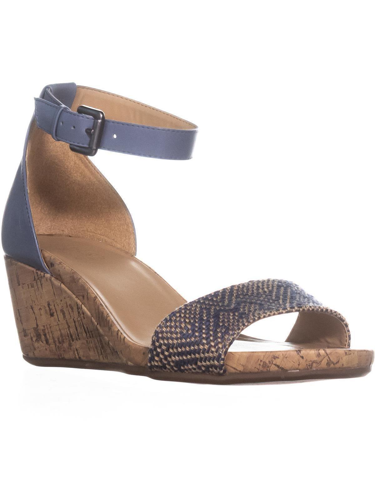 Womens Naturalizer Cami Ankle Strap Wedge Sandals, Blue Multi by Naturalizer