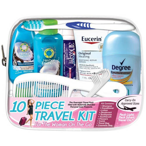 Woman On The Go 10 Piece Travel Kit