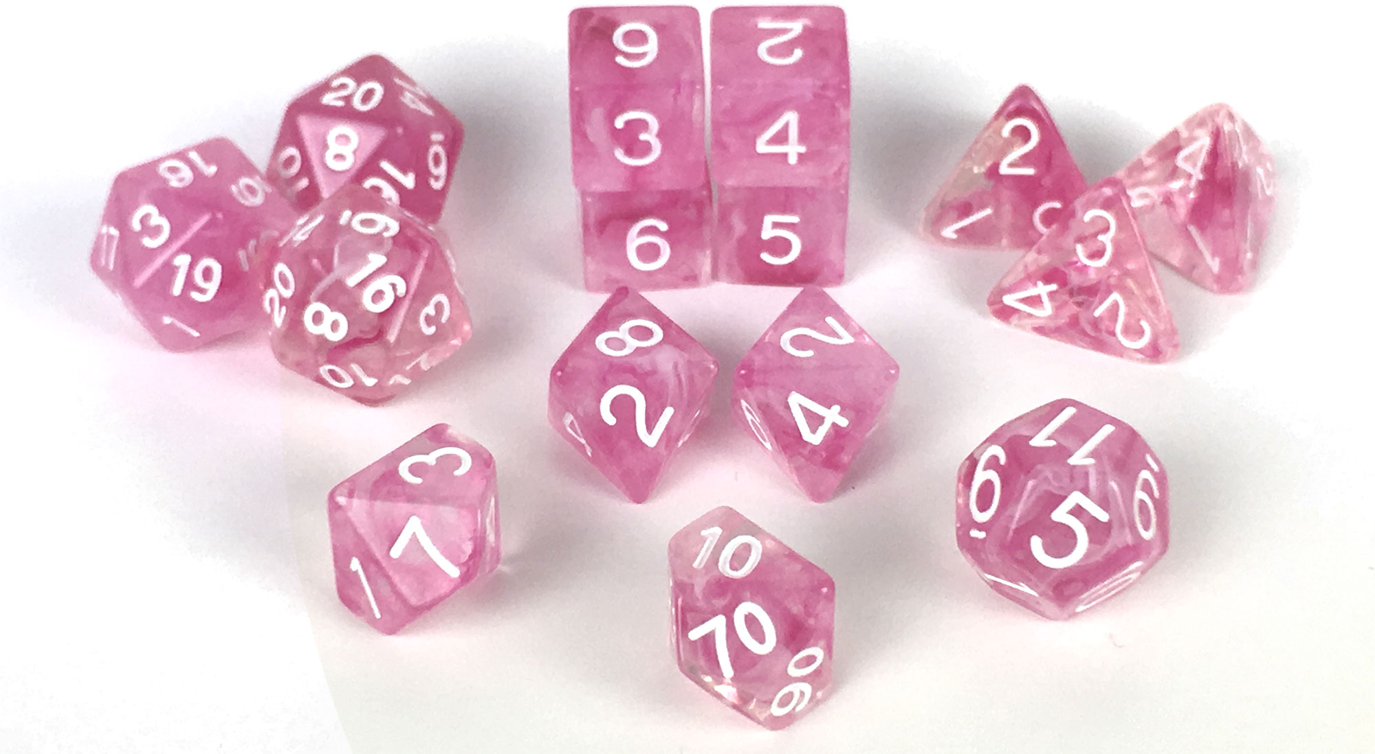 Blue Ink with White Numbers 15 Set Diffusion Dice