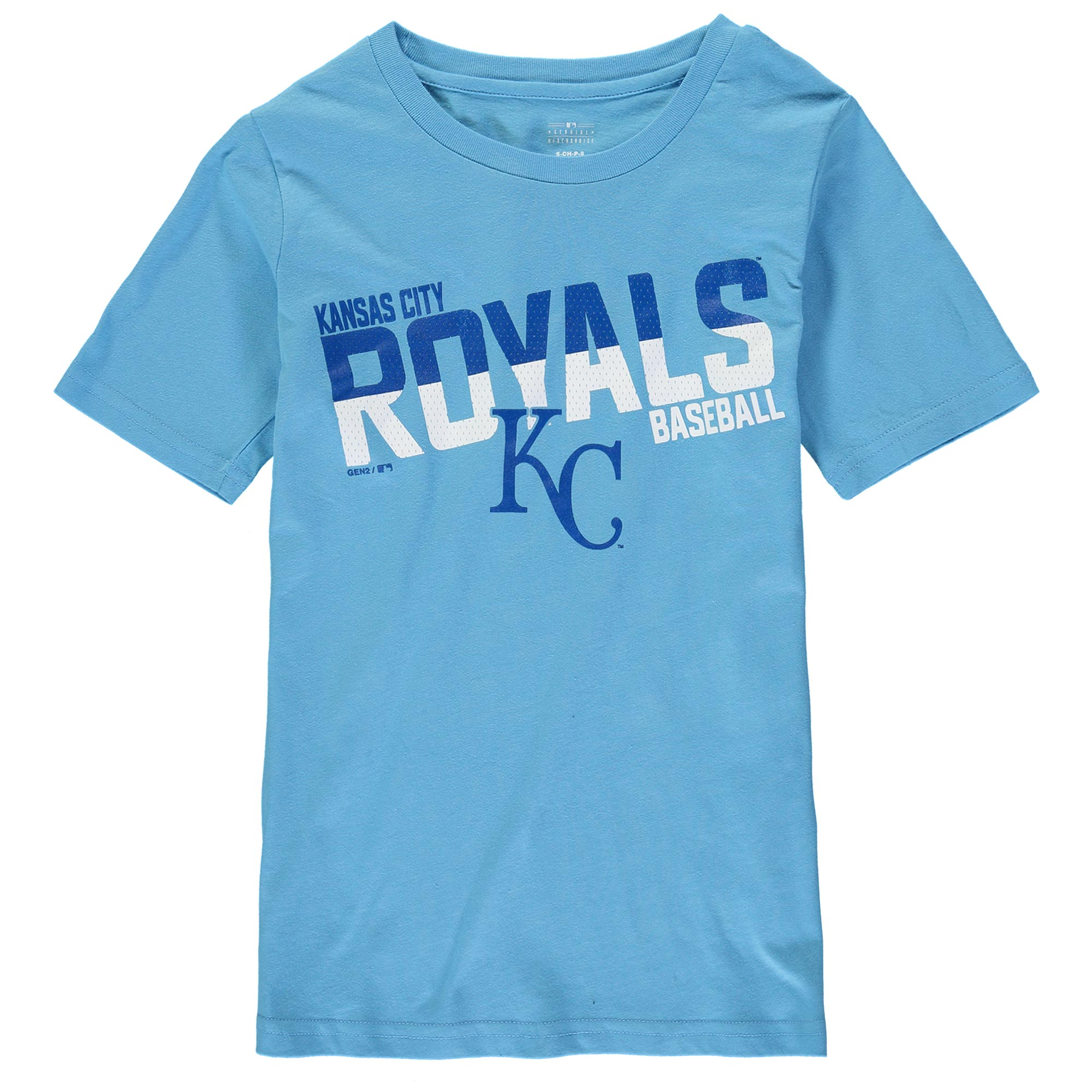 Kansas City Royals Youth Alternate All Meshed Up T-Shirt - Light Blue