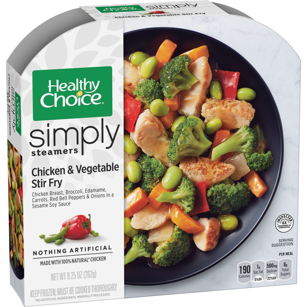 Healthy Choice Cafe Steamers Simply Chicken & Vegetable Stir Fry, 9.25 oz