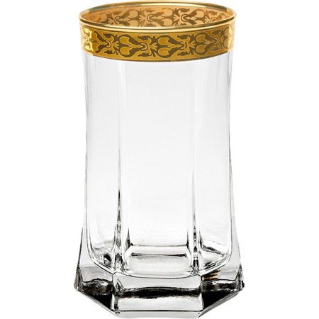 Lorren Home Trends Venezia 10 oz. Crystal Highball Glass (Set of 4)