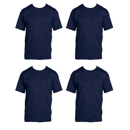 e7c20922 Fruit of the Loom - Fruit of the Loom Mens 4-Pack of Pocket T-Shirts, Pack  of 4 - Walmart.com