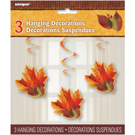 Fall Beauty Hanging Decorations, 26 in, 3ct for $<!---->