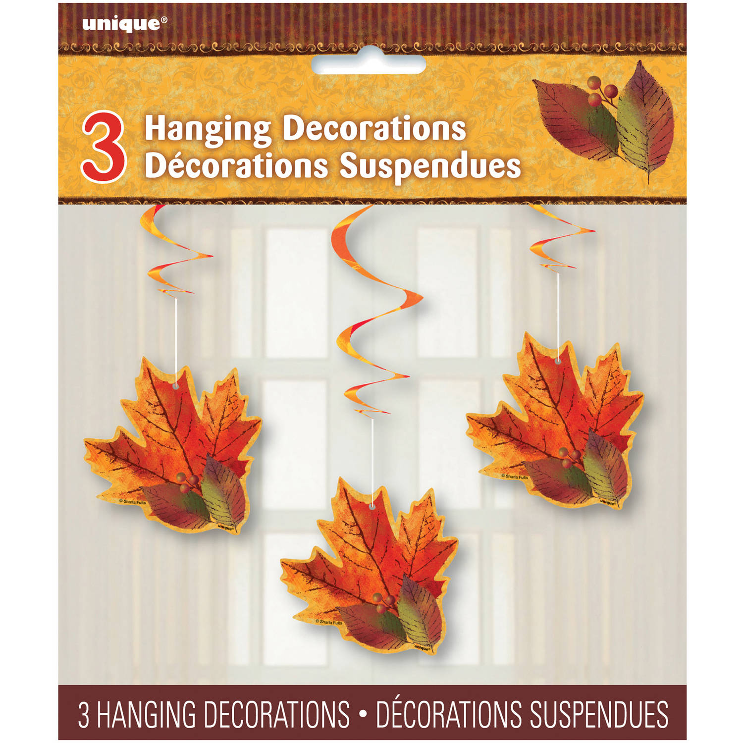 Fall Beauty Hanging Decorations, 26 in, 3ct