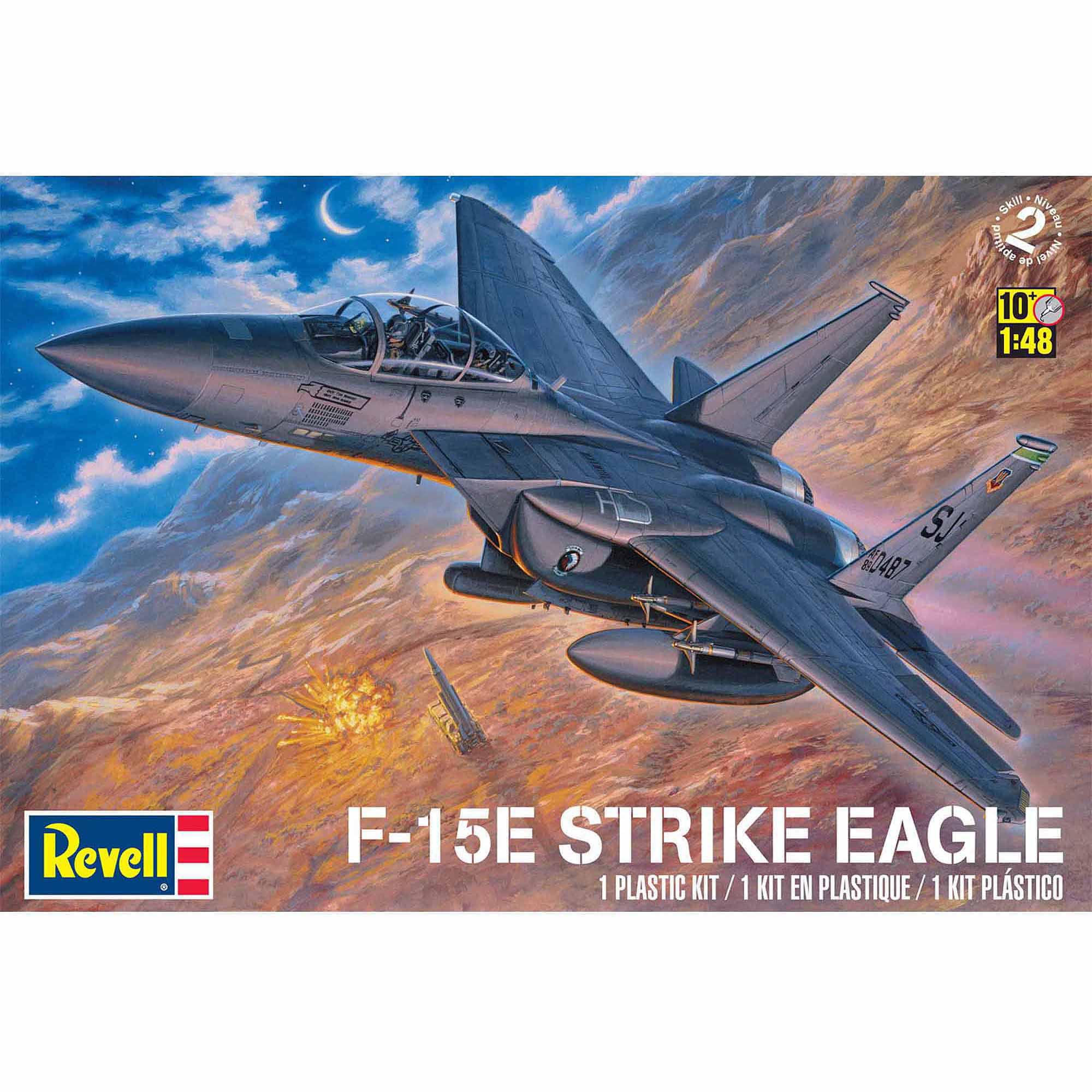 Revell 1:48 Scale F15E Strike Eagle Model Kit by Revell
