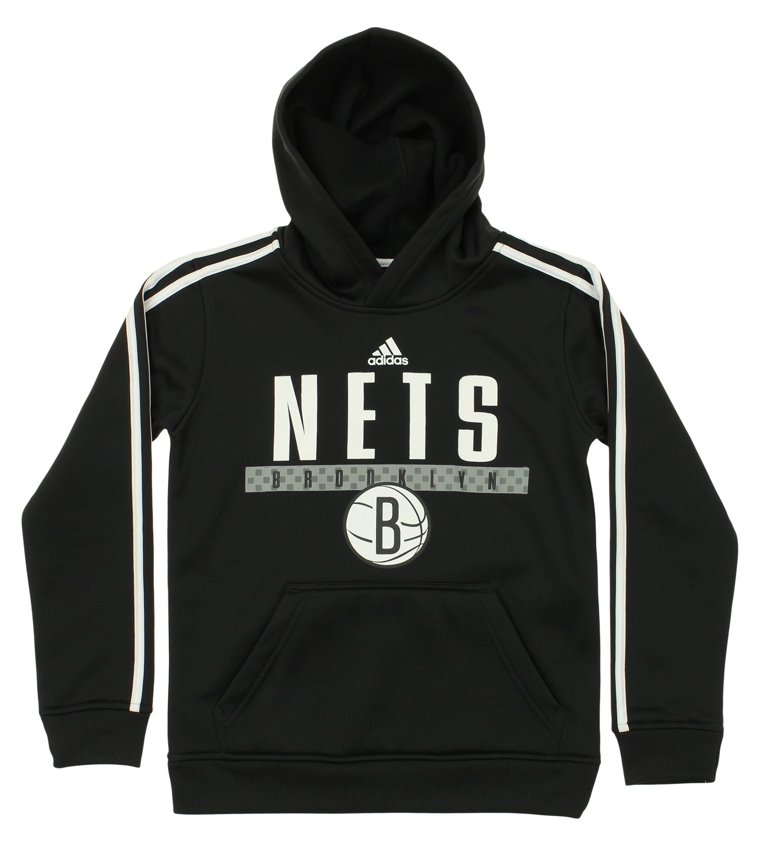 Adidas NBA Youth Brooklyn Nets Pullover Playbook Hood, Black