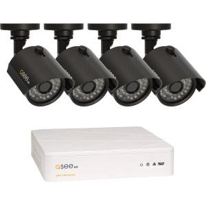 Q-see 4 Channel HD Security System with 4 HD 720p Cameras...
