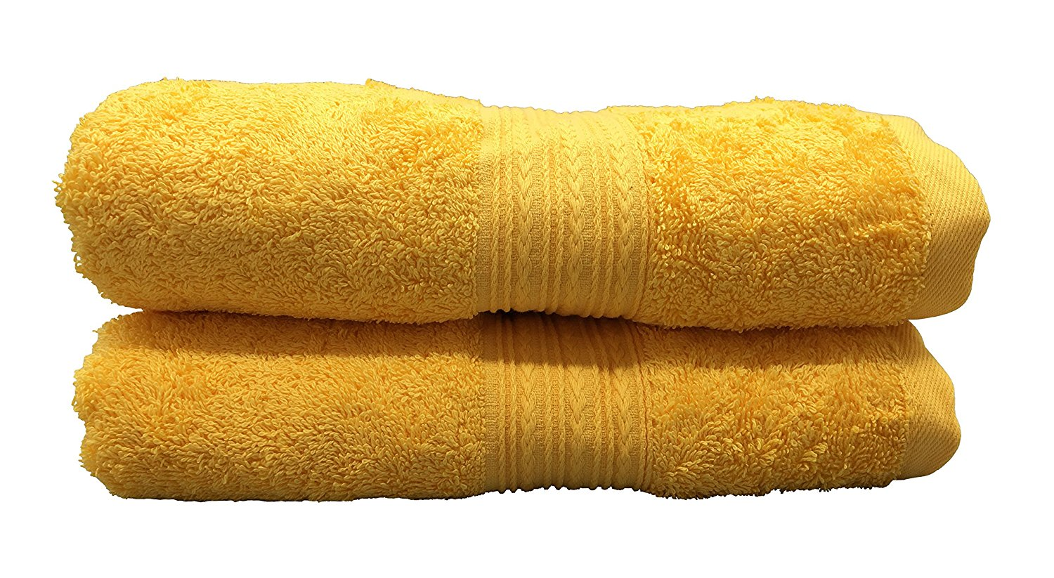 Goza Towels Cotton Bath Towels (2 Pack, 28 by 56 inches) Gold Yellow by