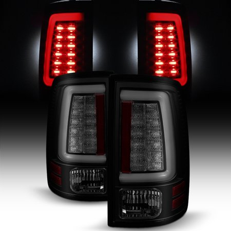 - Fits 09-18 Dodge Ram 1500 2500 3500 Black Smoked LED Tube Tail Lights Brake Lamp