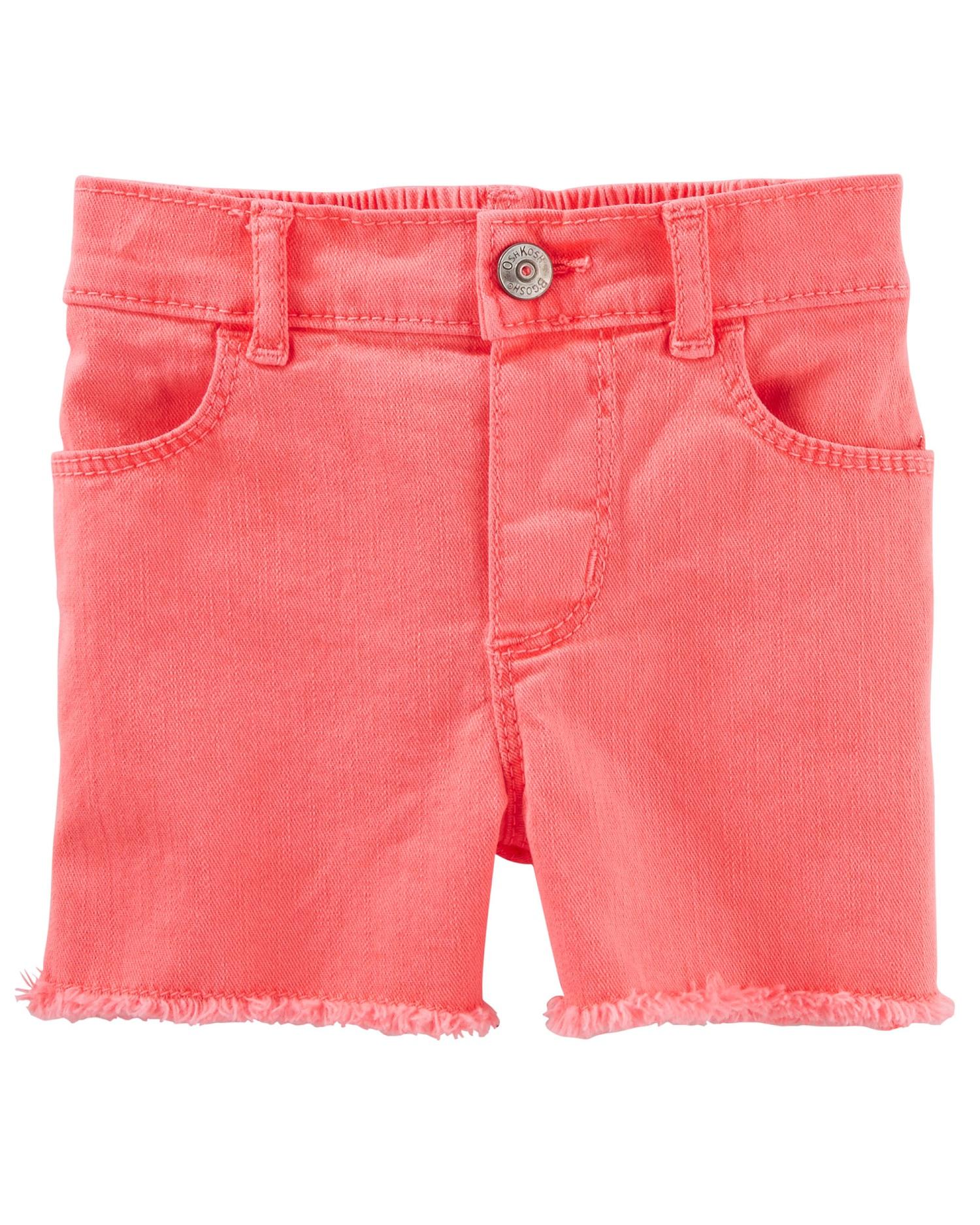 OshKosh B'gosh Baby Girls' Twill Shorts, 18 Months
