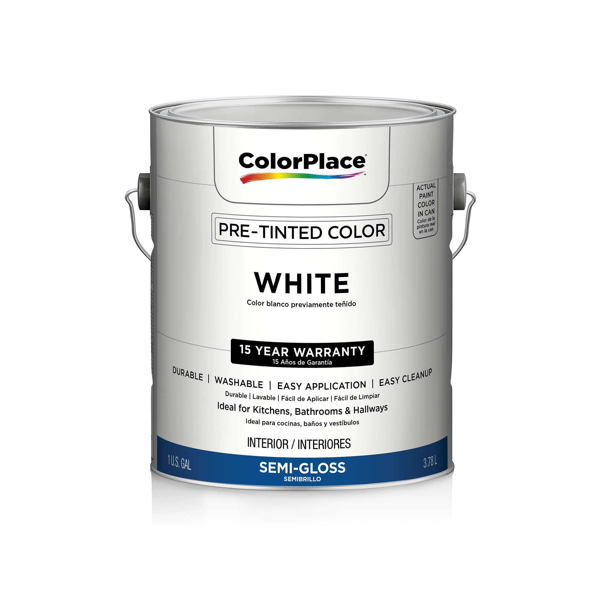 Exceptionnel Color Place Interior Semi Gloss Paint, White
