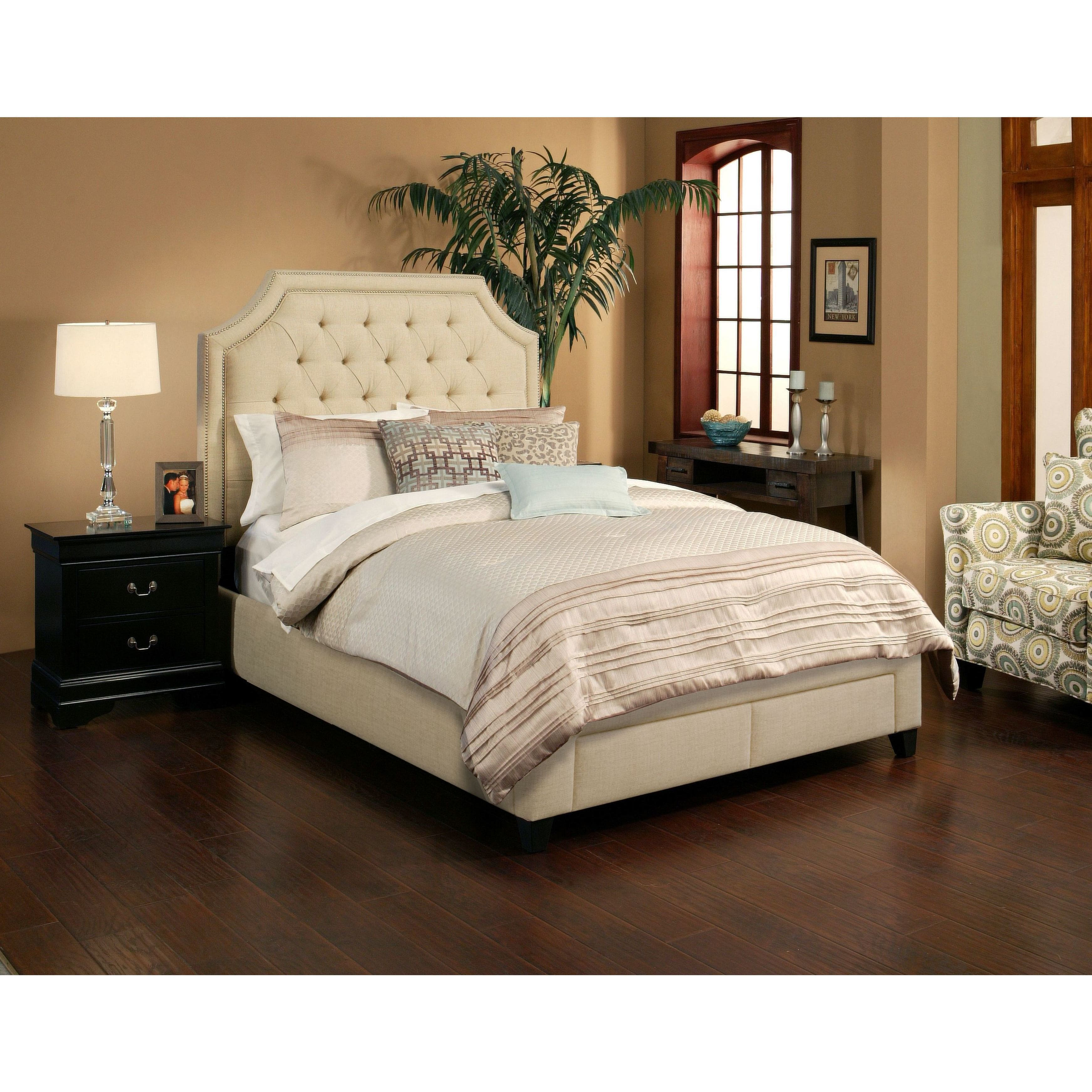 SeaHawk Designs 72501 Audrey Wheat Two Drawer Storage Bed Base - Eastern King
