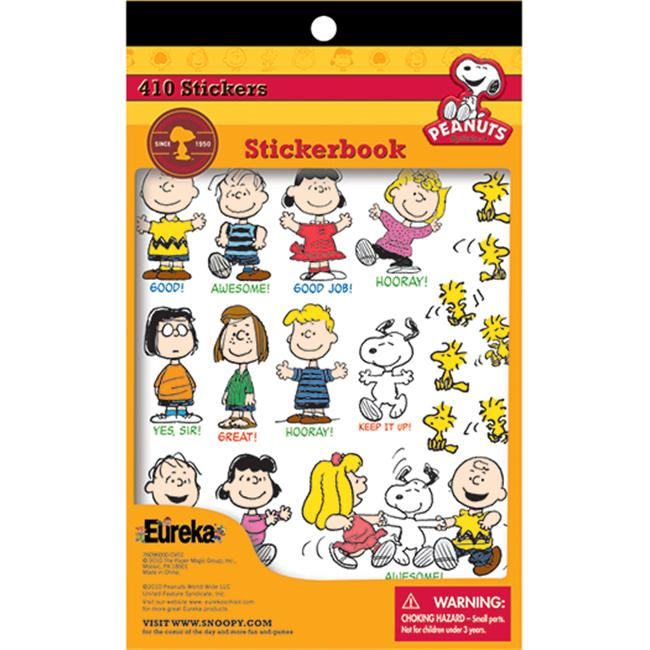 Eureka EU-609600 Peanuts Sticker Books