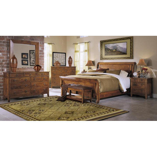 Bundle-31 Klaussner Furniture Urban Craftsmen Sleigh Customizable Bedroom Set (3 Pieces)