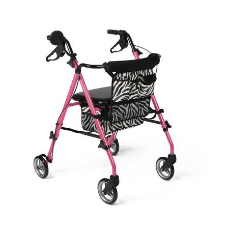 Medline Light (Medline Lightweight Posh Pink Zebra Rollator)