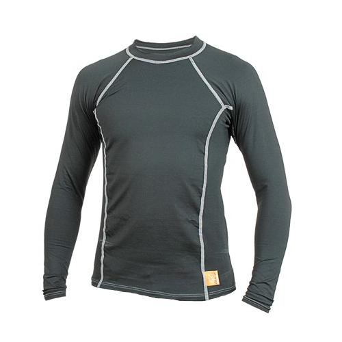 Hyperflex Polyolefin Long Sleeve 50-50 Loose Fit Rash Guard BK L by Hyperflex