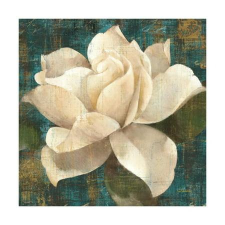 Gardenia Blossom (Gardenia Blossom Turquoise Print Wall Art By Albena Hristova )