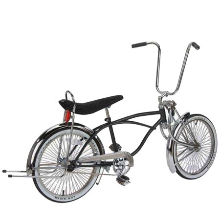 20 Long Springer Fork Lowrider Bike Black