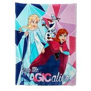 Disney Frozen Micro Plush Throw Blanket Anna & Elsa - Keep The Magic Alive