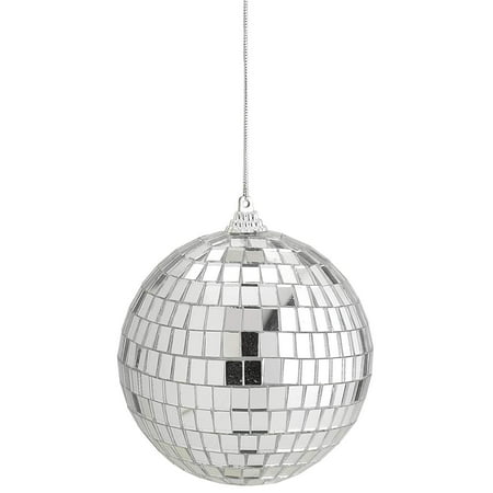 Mirror Disco Ball - 4-Inch Cool and Fun Silver Hanging Party Disco Ball – Party decorations, Party Design, Dance and Music festivals- By Kidsco