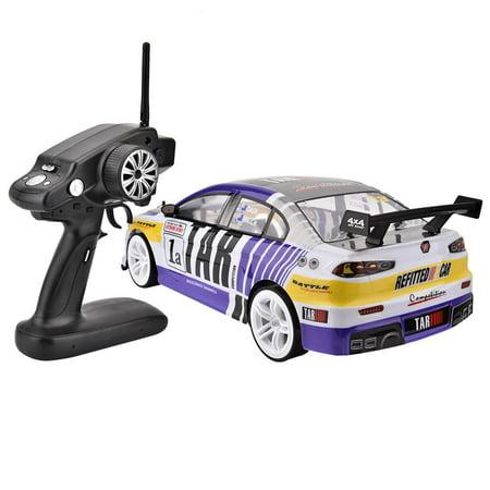 Herwey RC Racing, voiture de jouet RC, 1/10 quatre roues motrices 4WD télécommande modèle RC Racing Car Drift Toy Vehicle - image 6 de 8