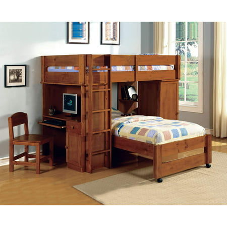 Furniture of America Boyd Twin Over Twin Loft Bed, Multiple Colors