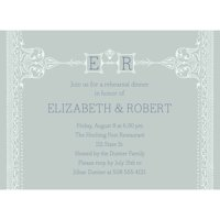 Formal Initials Party Invite Standard Rehearsal Dinner