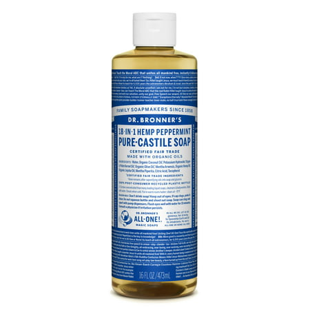 - Dr. Bronner's Peppermint Pure-Castile Liquid Soap - 16 oz