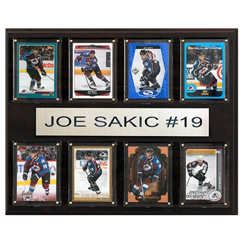C and I Collectables NHL 15W x 12H in. Joe Sakic Colorado Avalanche 8 Card Plaque by CandICollectables