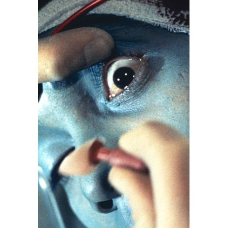 UFO famous opening credits scene of alien eye being removed 24x36 Poster - Halloween Opening Credits